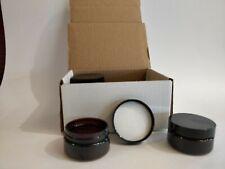 6 Jars w/Lids- 50g Plastic Amber Empty Cosmetic Makeup Cream Jar Container