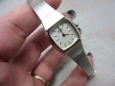 Vintage Seiko ladies wrist watch. Stainless steel bracelet band. SMALL