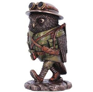 WW1 World War One Military Owl Figurine Statue Bronzed Resin 'Oscar Whisky Lima'