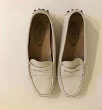 TOD'S Gommini' Driving Moccasin Women Shoes White Size 36,5