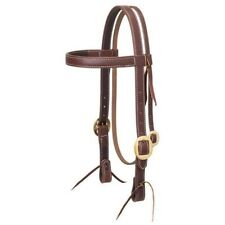 Weaver Working Cowboy Solid Brass Browband Headstall, Golden Chestnut, 1""