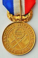 Médaille d'une société de secours mutuels d'Anciens Militaires, Meze 1863