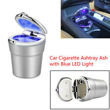 High Quality Stainless Car Cigarette Ashtray Ash w/Blue LED Light For Cup Holder