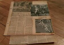 Vintage Football Clippings Georgia Tech Red Raiders Miners Horned Frogs College