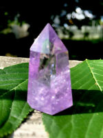 21g  SMALL NATURAL HEALING AMETHYST QUARTZ CRYSTAL WAND  Reiki Charged S.AFRICA