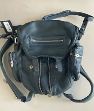 New Alexander Wang Lambskin Leather Marti Backpack- Ink Blue
