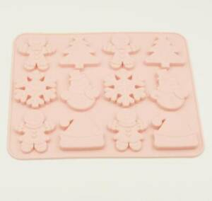 Christmas Tree/Gingerbread Man/Snowman/Snow Flake Mould Tray Non Stick Silicone