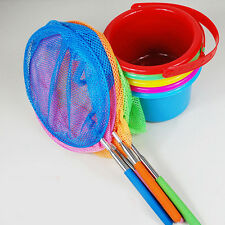 Extendable Kids Fishing Net Telescopic Handle Butterfly Insect Fish Fun Toy New