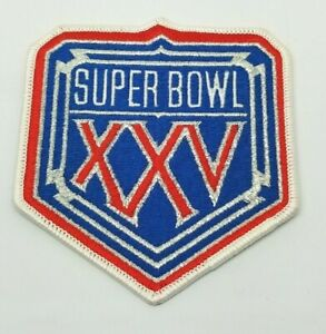 Original 1991 Super Bowl 25 (XXV) Logo Patch N Y Giants vs Buffalo Bills NFL