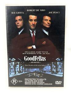Goodfellas (DVD, 1990) Robert De Niro Region 4 Free Postage