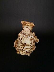 Harmony Kingdom Teddy Bear And A Baby Girl Doll Trinket Box