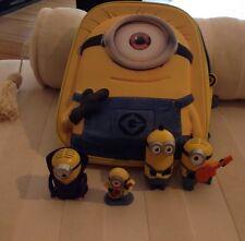 Minions Set 3D Rucksack Stuart und 4 Figuren ( Mac Donalds) Kevin Bob