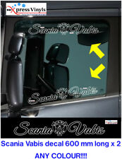 Scania Vabis window decals x 2. Truck graphics stickers ANY COLOUR