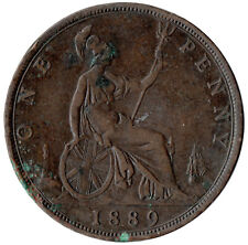 More details for 1889 one penny of queen victoria very nice  /heaton mint #jan137