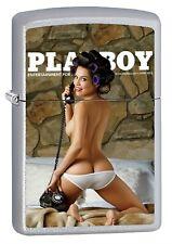 Zippo Lighter: Playboy Cover, June 2013 - Satin Chrome 76677