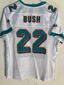 Reebok Women's NFL Jersey Miami Dolphins Reggie Bush White sz 2X