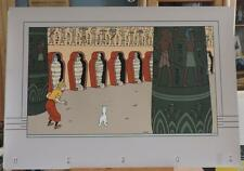 Herge serigraphie VO Puzzle Tintin Cigares du Pharaon Archives 1990