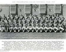1959 PHILADELPHIA EAGLES 8x10 TEAM PHOTO PICTURE HOFs BEDNARIK VAN BROCKLIN