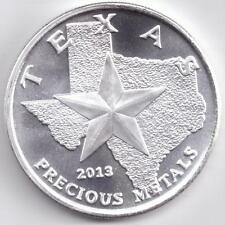 2013 Silver Texas Round. 1-Troy oz. .9999 Silver