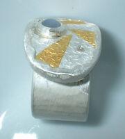 Ring Stern dunkelblauen Sternsaphir,Silber 999,Gold 750, Flamere, Galerieschmuck