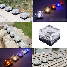 Solar Waterproof Ice Blocks LED Light Outdoor Buried Brick lamp Warm White