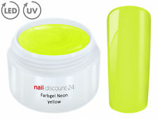 UV Farbgel NEON YELLOW French Color Gel Modellage NailArt Design Nagel Gelb Tip