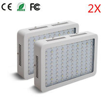 2PCS 1000W LED Grow Light Full Spectrum IR UV Veg Flower Indoor Plant Panel
