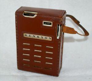 Vintage Benkson Six Transistor Radio Working Leather Case Made in Hong Kong