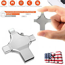 4 in 1 OTG Lightning Type C USB 3.0 Flash Drive Memory Stick For iPhone Android