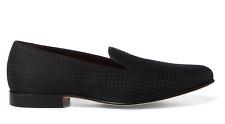 $695 Ralph Lauren Purple Label Italy Alonzo Jacquard Glen Plaid Slipper Shoes