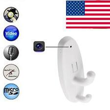 White Motion Detection Spy Clothes Hook Hidden Camera DVR Nanny Babysitting Cam