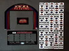 "Bally Alpha Stepper Slot Machine BLAZING SEVENS 15"" Top LCD Glass Kit w/ Strips"