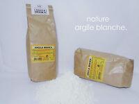 ARGILE BLANCHE  1 kg Surfine 100% naturelle Kaolin Masque pour peau fragile