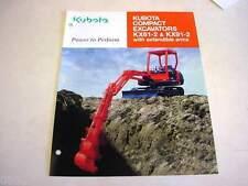 Kubota KX61-2 & KX91-2 Compact Excavator Literature