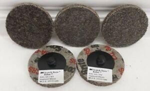 "3M Scotch-Brite Roloc EXL Unitized Wheel TR 8A CRS 2"" 048011-17194 (qty 5)"