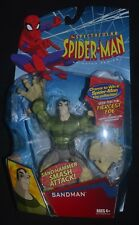 "SANDMAN The Spectacular Spider-Man Animated Series 6"" Figure Hasbro MIP Rare!"