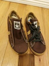 Rare 1970s Brown Converse Sneakers Deadstock Made in Usa Sz. 7