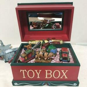 Vintage Antique MusicBox Helicopter Cars Animals Toy Box Yokohama Display Musium