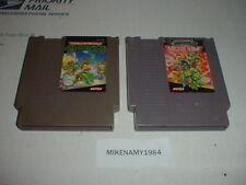 TEENAGE MUTANT NINJA TURTLES 1 & 2 both games cartridge only Nintendo NES system