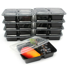 10x Meal Prep Container 3 Compartment Plastic Food Storage Reusable Microwavable