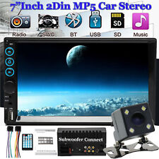 """2 Din 7"""" Touch Screen FM Bluetooth Radio Audio Stereo Car Video Player+HD Camera"""