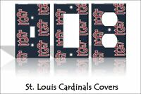 St. Louis Cardinals Light Switch Covers Baseball MLB Home Decor Outlet