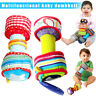 1 Pair Infant Baby Rainbow Colourful Soft Rattle Dumbbells Kids Interactive Toy