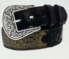 Stetson Men's Crackle And Tooled Belt-1111S SZ (38) NWT