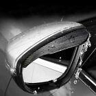 2 Pieces Carbon Fiber Black Mirror Rain Visor Guard For Car Auto Accessories New
