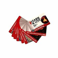 New Ultimate Survival Technologies Learn and Live Cards Fire Starting 20-80-1035