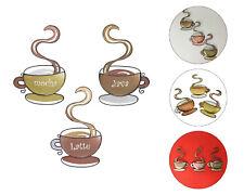 Coffee House Cup Mug Kitchen Wall Art Latte Java Mocha Metal Home Decor New