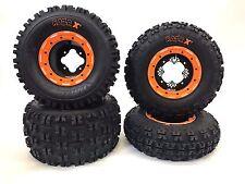 DWT G3 Beadlock Wheels Maxxis Razr XC Tires Front Rear Kit YFZ450 Raptor Banshee