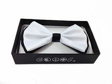NEW Black/White Tuxedo Classic BowTie Neckwear Adjustable Men's Bow Tie