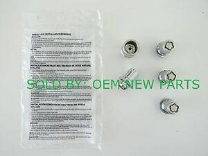 Genuine Toyota Rav4 Rav-4 Chrome 4 Wheel Locks with Key